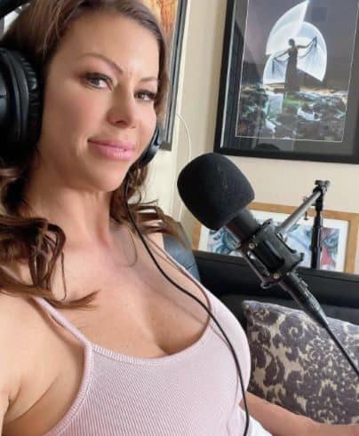 Alexis Fawx giving an interview sharing her biography, how she started her career in industry